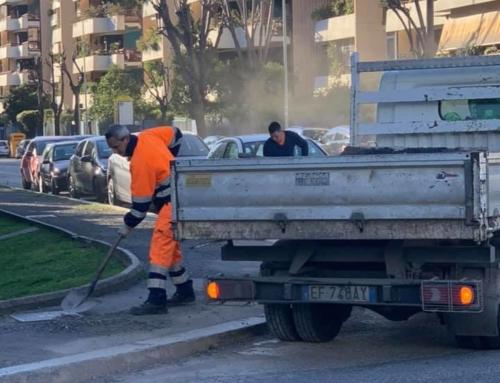RIPRISTINATI I MARCIAPIEDI DI VIA ARCIDIACONO/ DRAGO