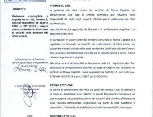 AVVISO AI CITTADINI:NUOVE DI MODALITA' CONFERIMENTO RIFIUTI ORDINANZA SINDACALE N. 153/2019